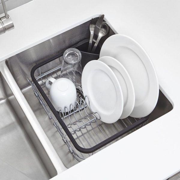 1004292 47 umbra sinkin 3 in 1 dish rack black 04 Марка: Umbra HK Limited <br />Модел: UMBRA 1004292-047<br />Доставка: 2-4 работни дни<br />Гаранция: 2 години