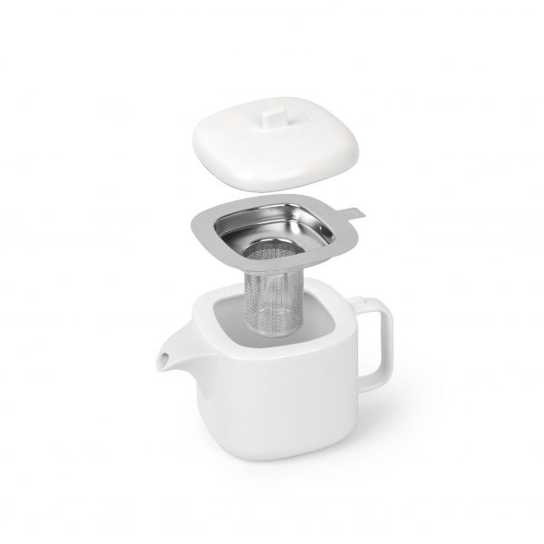 1004308 670 cutea teapot with infuser white nickel 03 1 Марка: Umbra HK Limited <br />Модел: UMBRA 1004308-670<br />Доставка: 2-4 работни дни<br />Гаранция: 2 години