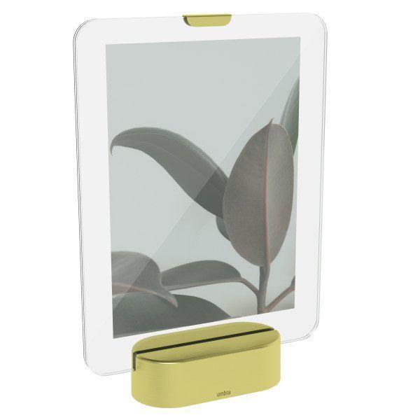 """UMBRA Рамка за снимки с LED светлина """"GLO"""" - 13х18см - цвят месинг мат"""