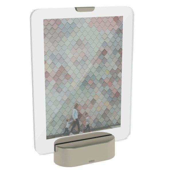 """UMBRA Рамка за снимки с LED светлина """"GLO"""" - 13х18см -  цвят никел"""