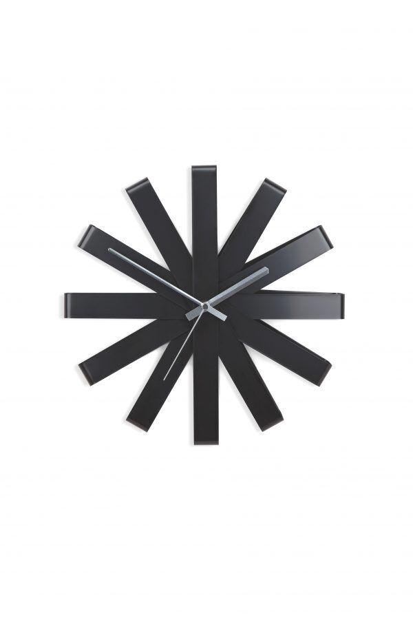 118070 040 ribbon wall clock black 01 scaled