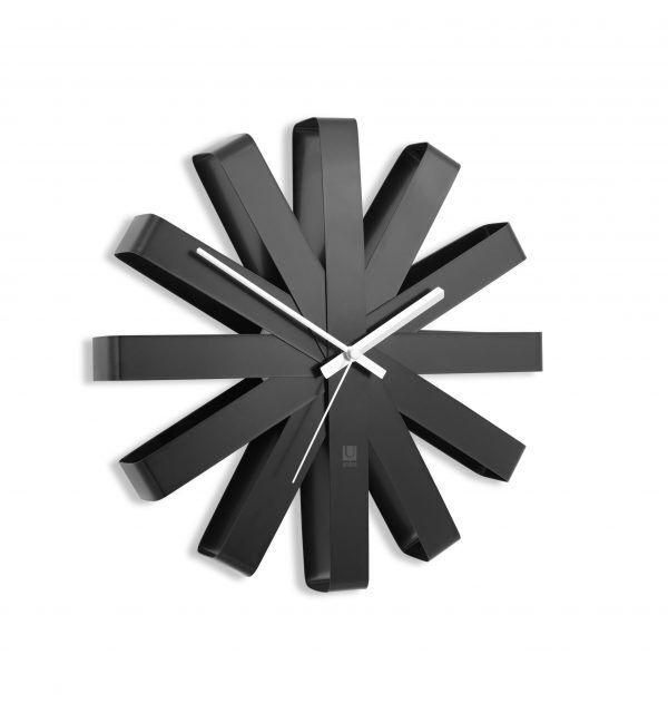 """UMBRA  Стенен часовник """"RIBBON"""" - цвят черен"""
