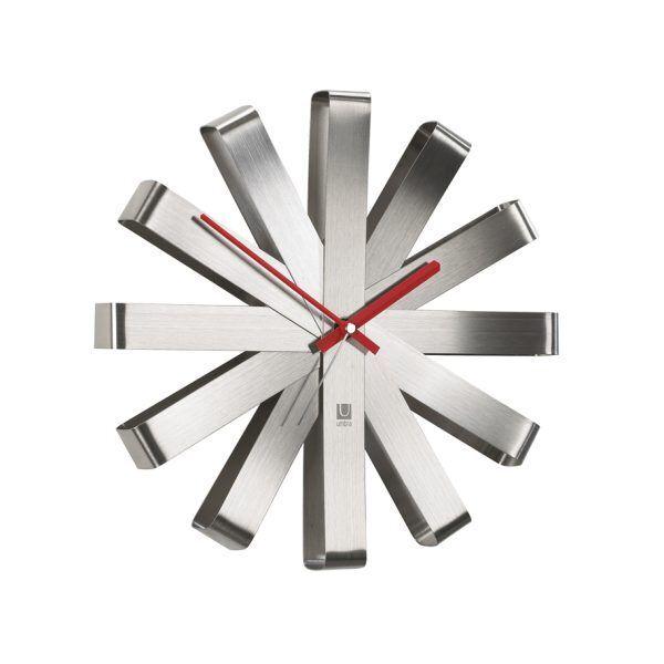 118070 590 ribbon wallclock steel 01 Марка: Umbra HK Limited <br />Модел: UMBRA 118070-590<br />Доставка: 2-4 работни дни<br />Гаранция: 2 години