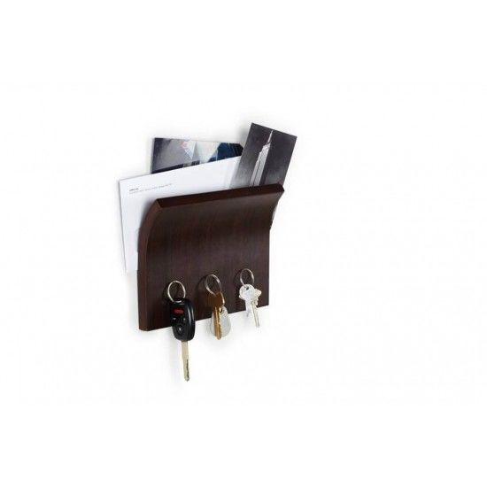 """UMBRA Магнитна поставка за ключове / органайзер """"MAGNETTER"""" - цвят кафяв"""