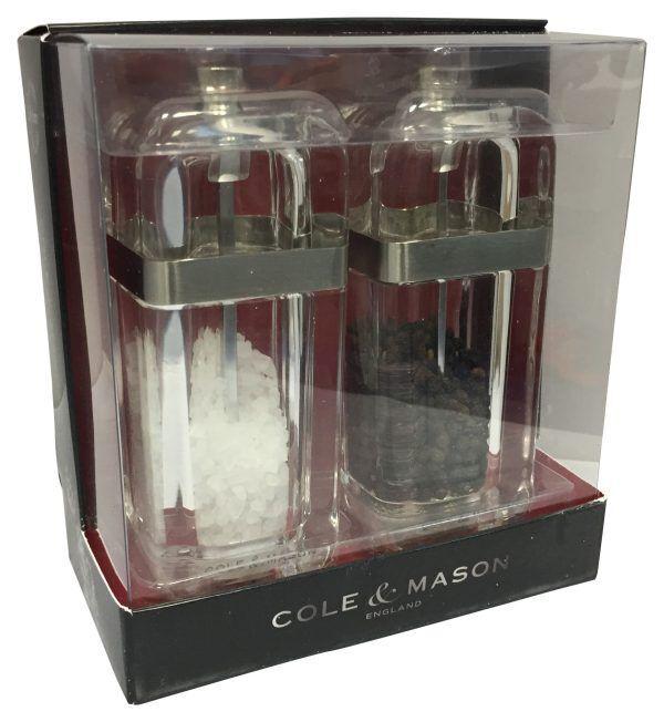 """COLE & MASON Комплект мелнички за сол и пипер """"KEMPTON"""" - 13 см."""