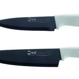 IVO Cutelarias К-т ножове на майстора (13см и 18см) - бяла дръжка