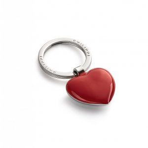 """PHILIPPI Ключодържател сърце """"SWEETHEART"""" - червено / хром"""