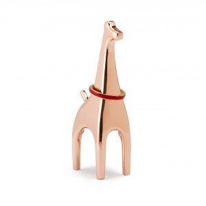 """UMBRA Поставка за пръстени """"ANIGRAM GIRAFFE"""" - жираф - цвят мед"""