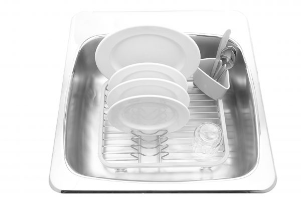 330065 670 sinkin dish rack mint nickel insitu 01 1 Марка: Umbra HK Limited <br />Модел: UMBRA 330065-670<br />Доставка: 2-4 работни дни<br />Гаранция: 2 години