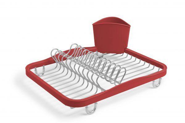 330065 718 sinkin dish rack red nickel 01 Марка: Umbra HK Limited <br />Модел: UMBRA 330065-718<br />Доставка: 2-4 работни дни<br />Гаранция: 2 години