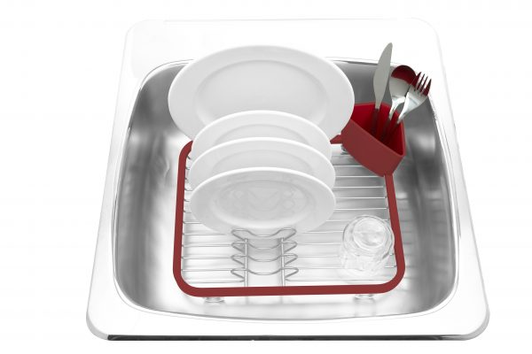 330065 718 sinkin dish rack red nickel insitu 01 Марка: Umbra HK Limited <br />Модел: UMBRA 330065-718<br />Доставка: 2-4 работни дни<br />Гаранция: 2 години