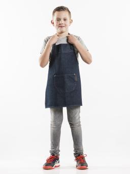 Дънкова готварска престилка с джобове - детска