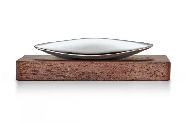 """PHILIPPI   Стоманен сапун с дървена поставка """"SAVON"""""""