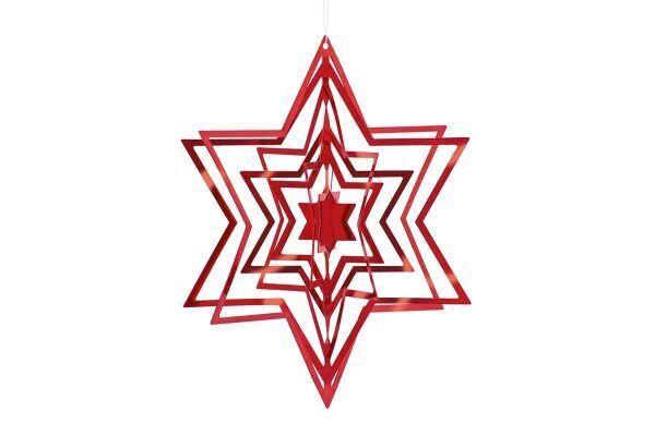 PHILIPPI 3D Коледна звезда STAR - червена
