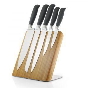 GEFU Комплект бамбуков магнитен блок с 5 ножа