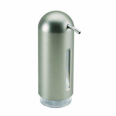 """UMBRA Диспенсър за сапун """"PENGUIN"""" - цвят никел"""
