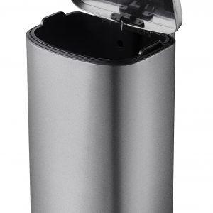 """EKO Кош за отпадъци с педал """"DELLA"""" - 35 литра - графит/инокс"""