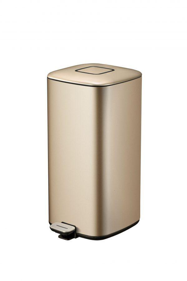"""EKO Кош за отпадъци с педал """"REGENT"""" - 32л - цвят златно шампанско"""
