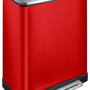"""EKO Кош за разделно събиране на отпадъци с педал """"E-CUBE"""" - (28 + 18) литра - червен"""