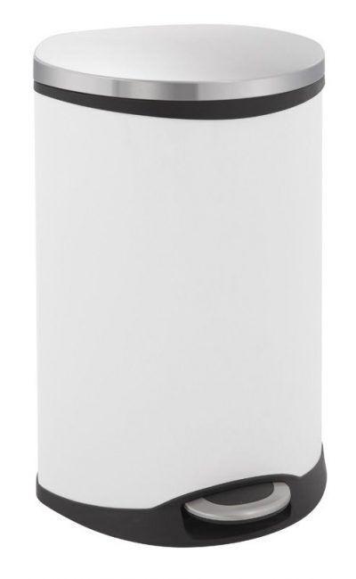 """EKO Кош за отпадъци с педал """"SHELL"""" - 18 литра - бял"""