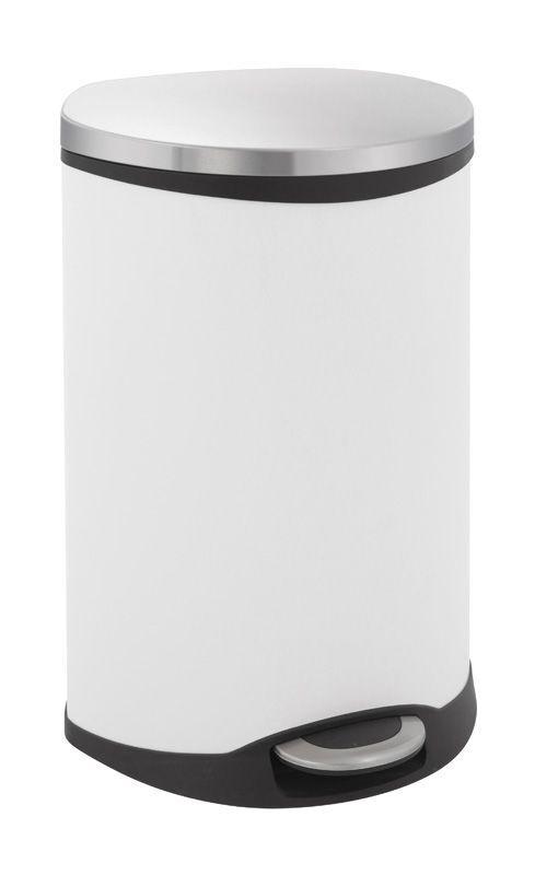"""EKO Кош за разделно събиране на отпадъци с педал """"SHELL"""" - 2 х 22 литра - бял"""