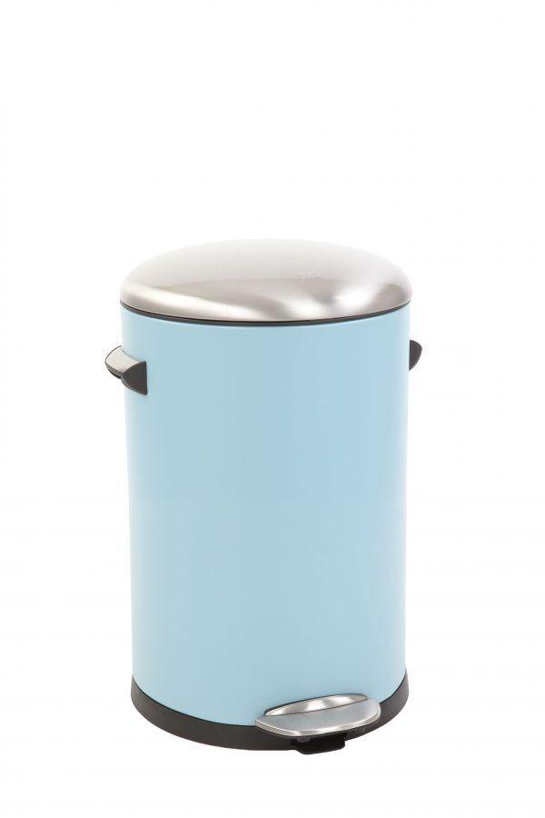 "EKO Кош за отпадъци с педал  ""BELLE DELUXE""- 12 литра - светло син"
