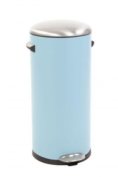 "EKO Кош за отпадъци с педал  ""BELLE DELUXE""- 30 литра - светло син"