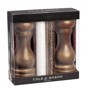 """COLE & MASON Подаръчен комплект мелнички за сол и пипер """"FOREST CAPSTAN"""""""
