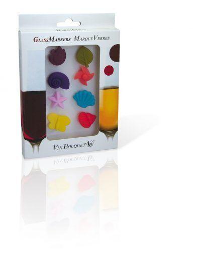 """Vin Bouquet Сет маркери за чаши - 8 цветни фигурки """"FUNNY"""""""