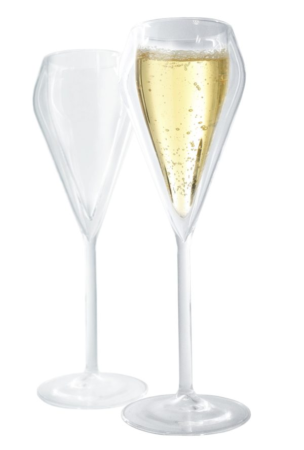 Vin Bouquet Комплект от 2 бр. двустенни стъклени чаши за шампанско