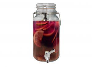 Vin Bouquet Стъклен буркан / диспенсър за течности 4л. с кранче