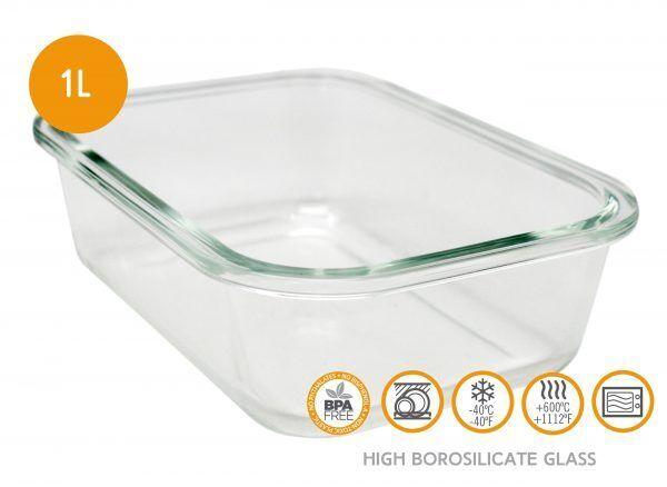 Vin Bouquet/Nerthus Стъклена кутия за храна с херметическо затваряне - 1 л.