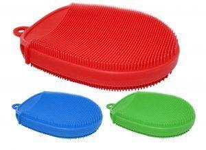 Nerthus Силиконова ръкавица четка  - различни цветове
