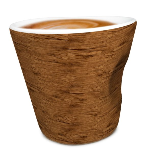 """Nerthus Порцеланова чаша за кафе """"WOOD"""" - 100 мл."""