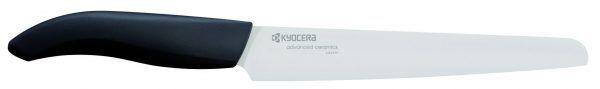 KYOCERA Универсален керамичен нож  - бяло острие/черна дръжка - 18 см.