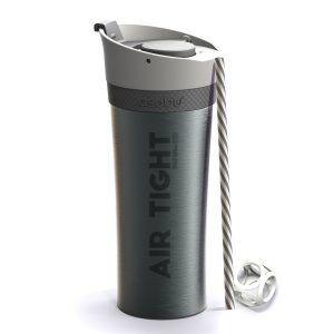 """ASOBU Двустенна термо чаша """"FRESH N GO"""" с вакуумна изолация и система AIR PUMP - 500 мл - цвят графит"""