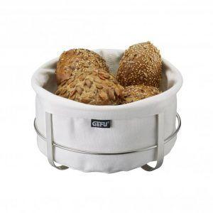 GEFU Панер за хляб BRUNCH - кръгъл - бял