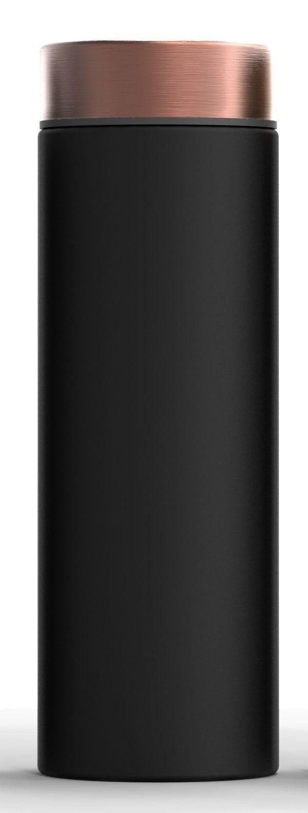 """ASOBU Двустенна термо бутилка с вакуумна изолация """"LE BATON"""" - 500 мл - цвят черен/мед"""