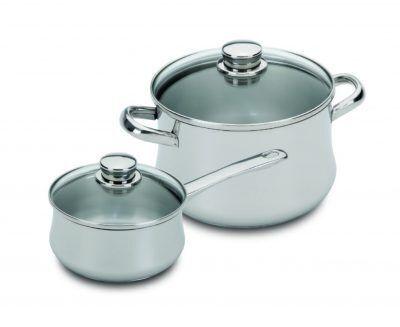 """SILAMPOS Комплект съдове за готвене """"Low cost I glass"""" – 4 части"""