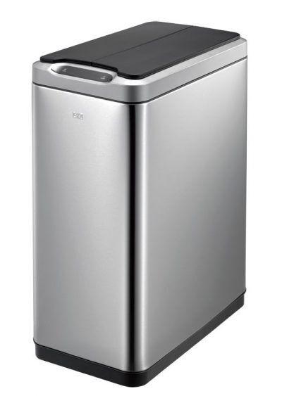 """EKO Сензорен кош за разделно събиране на отпадъци """"PHANTOM"""" - матиран - 2 х 20л"""