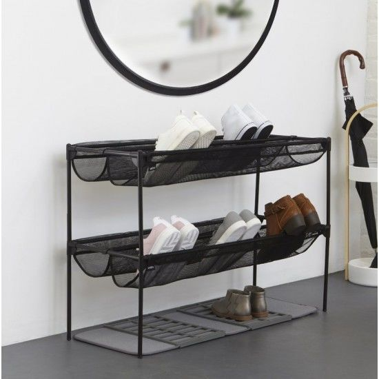 sling 18 pair stackable shoe rack Марка: Umbra HK Limited <br />Модел: UMBRA 1009488-040<br />Доставка: 2-4 работни дни<br />Гаранция: 2 години