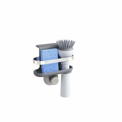 """UMBRA Органайзер за мивка """"HOLSTER"""" - за гъба и четка - цвят сив"""