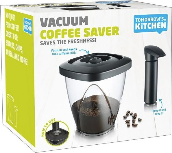 tomorrows kitchen 2883460 plastic vacuum coffee saver black clear 10401398 a6f5da8ba529d989d1a2bb920bc2239c Марка: TOMORROW`S KITCHEN <br />Модел: TK 2883460<br />Доставка: 2-4 работни дни<br />Гаранция: 2 години