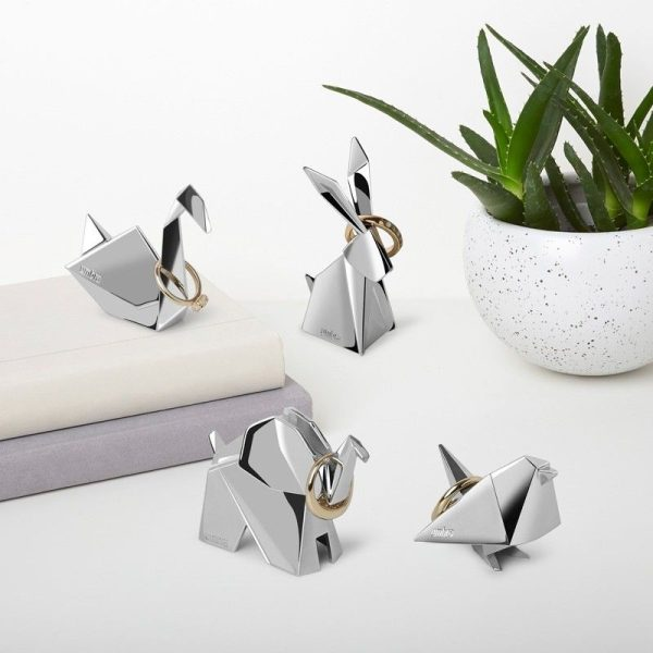 umbra origami ring holder elephant 2.1519056548 1 Марка: Umbra HK Limited <br />Модел: UMBRA 1010006-158<br />Доставка: 2-4 работни дни<br />Гаранция: 2 години