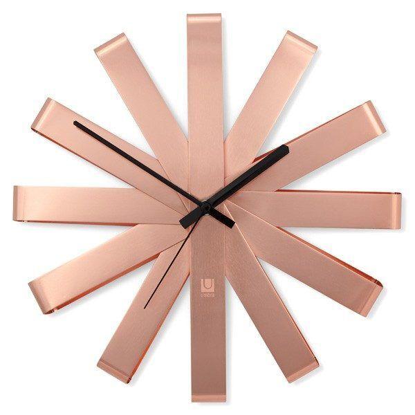 umbra ribbon clock copper 2.1508424251 Марка: Umbra HK Limited <br />Модел: UMBRA 118070-880<br />Доставка: 2-4 работни дни<br />Гаранция: 2 години