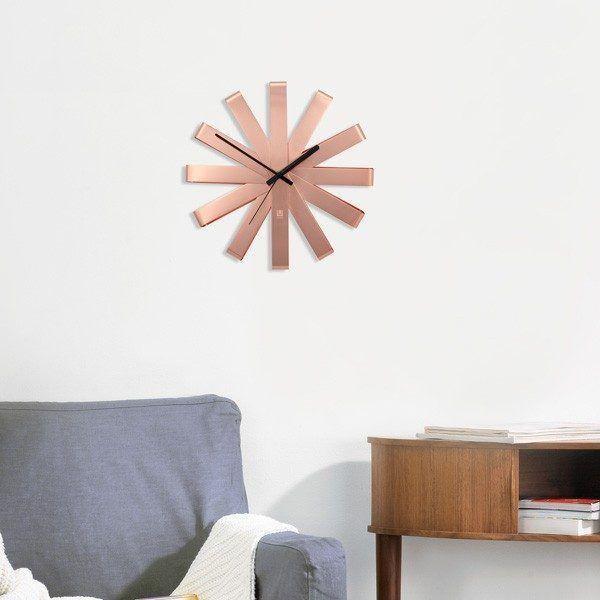 umbra ribbon clock copper 3.1508424251 Марка: Umbra HK Limited <br />Модел: UMBRA 118070-880<br />Доставка: 2-4 работни дни<br />Гаранция: 2 години
