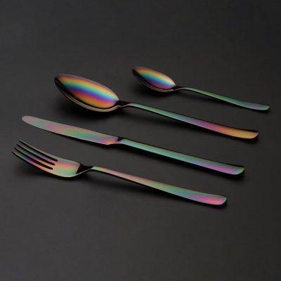 """HERDMAR Комплект прибори за хранене """"OSLO""""- 36 части - Rainbow / дъга / - PVD покритие"""