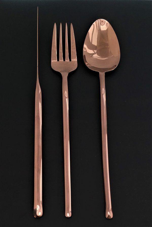 "HERDMAR Комплект прибори за хранене ""STICK"" - 36 части - шоколад"