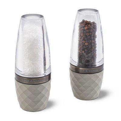 """COLE & MASON Комплект мелнички за сол и пипер """"CITY CONCRETE GUN METAL"""""""