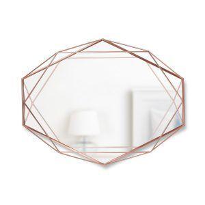 "UMBRA Огледало за стена ""PRISMA"" - цвят мед"